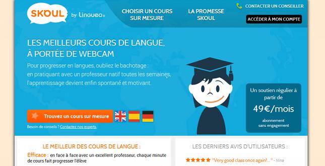 Skoul, le soutien scolaire en langues par webcam